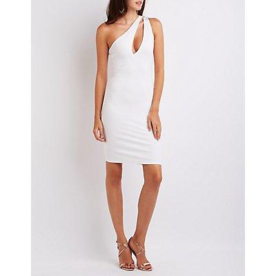 One-Shoulder Cut-Out Midi Dress