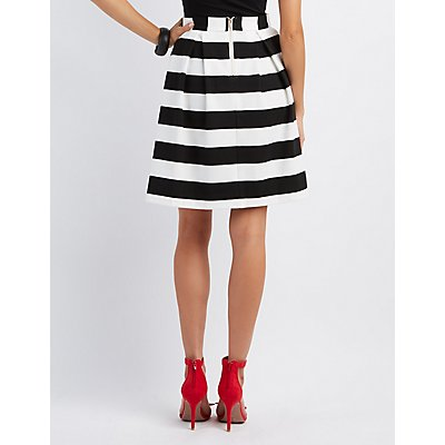 Striped Midi Skirt