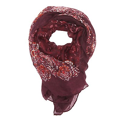 Floral Paisley Oblong Scarf