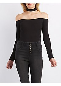 Floating Mock Neck Bodysuit