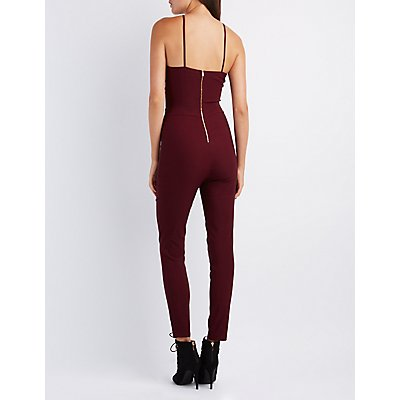 Strappy Cut-Out Halter Jumpsuit