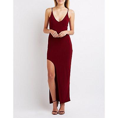 Draped Back Maxi Dress