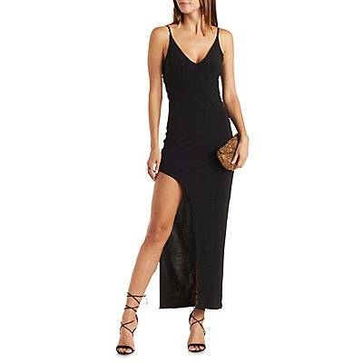 Strappy Asymmetrical Maxi Dress