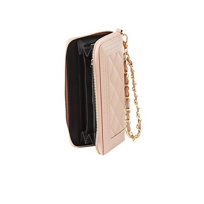 Chain Wristlet Quilted Wallet