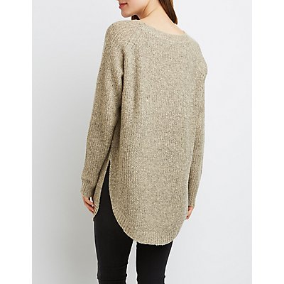 Curved Hem Oversized Sweater