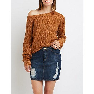 Curved Hem Oversized Sweater