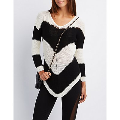 Chevron Shaker Stitch Sweater