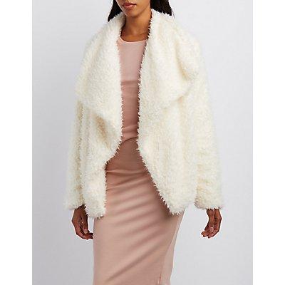 Fuzzy Faux Fur Jacket