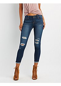 Destroyed Skinny Boyfriend Jeans