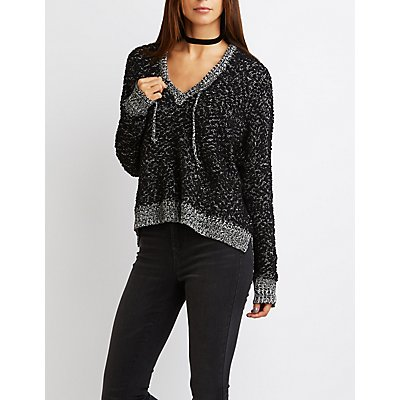 Chunky Knit Oversized Hoodie