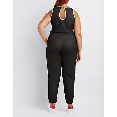 Plus Size Drawstring Jumpsuit