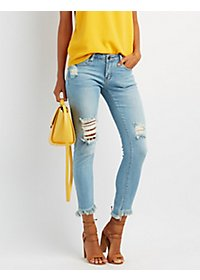 Machine Jeans Distressed Skinny Jeans