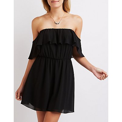 Ruffle Off-The Shoulder Dress
