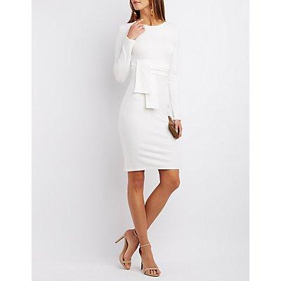 Origami Long Sleeve Bodycon Dress