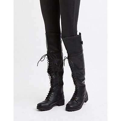 Over-The-Knee Combat Boots