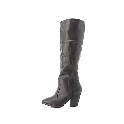 Dollhouse Chunky Heel Riding Boots
