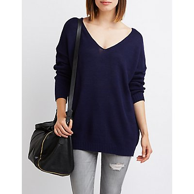 V-Neck Tunic Sweater