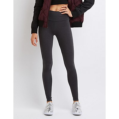 High-Rise Knit Leggings
