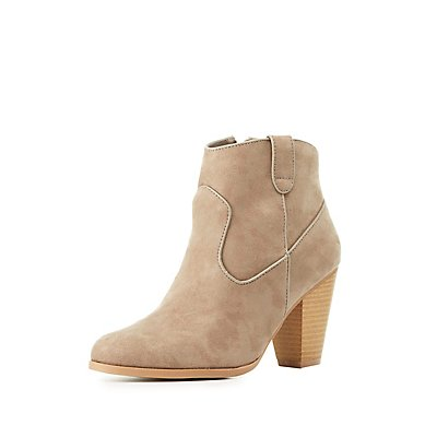 Qupid Western Ankle Booties