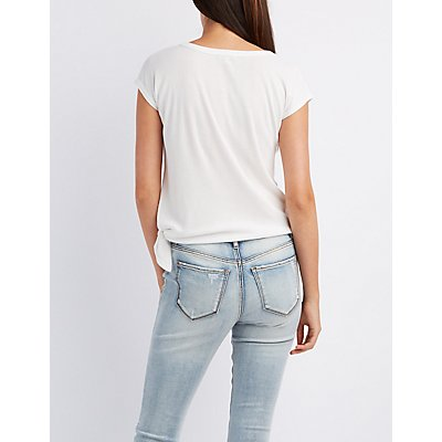 Ribbed Knotted Tee