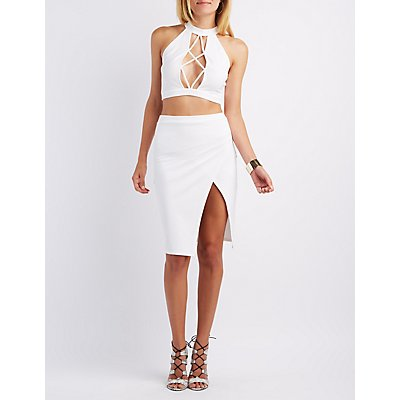 Lattice Crop Top & Wrap Skirt Hook-Up