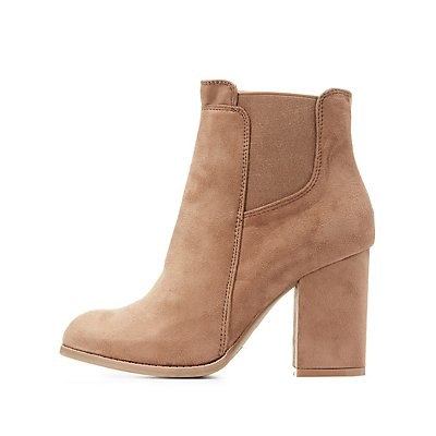 Block Heel Ankle Booties