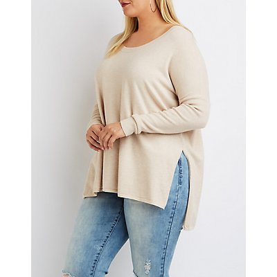Plus Size Oversized Drop Shoulder Sweater