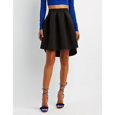 Full Pleated Scuba Skirt