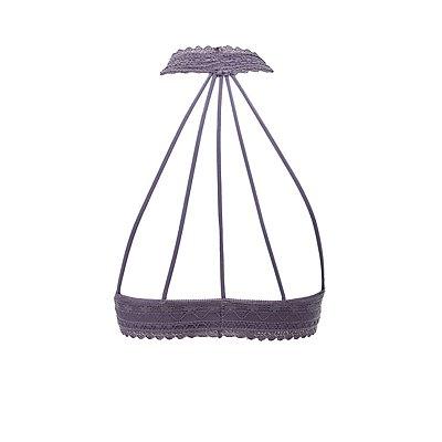Caged Lace Halter Bralette