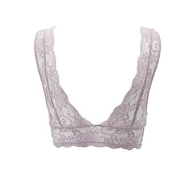 Lace V-Neck Longline Bralette