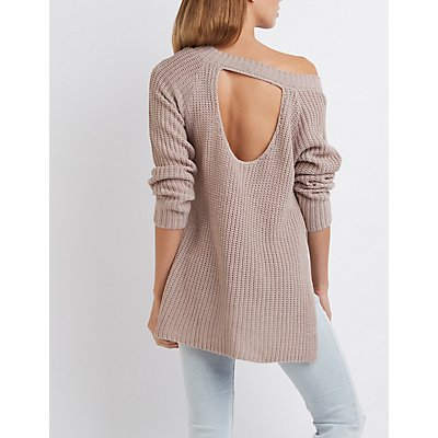 Open Back Tunic Sweater