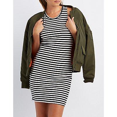 Striped & Ribbed Bodycon Dress