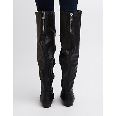 Bamboo Over-The-Knee Flat Boots