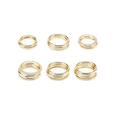 Stackable Rings & Midi Rings Set