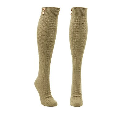 Textured Knit Over-The-Knee Socks