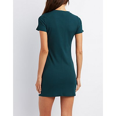 Crew Neck Bodycon Dress