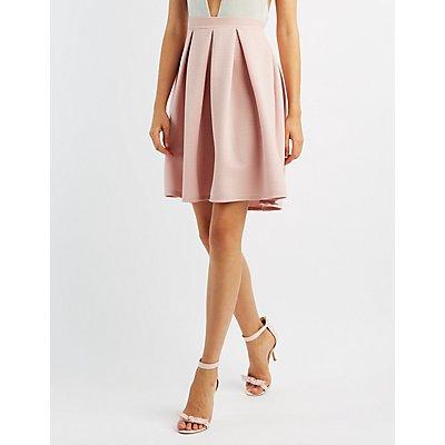 Ribbed Full Midi Skirt