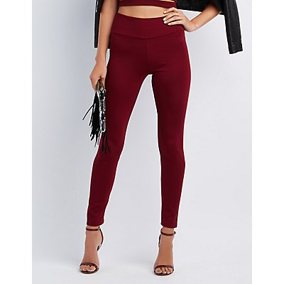 High-Rise Ponte Knit Leggings