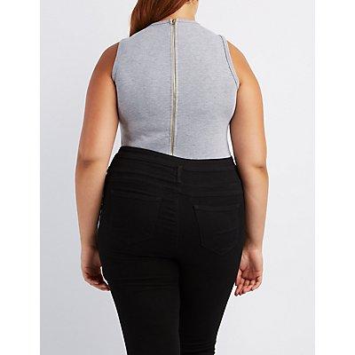 Plus Size Formation Graphic Bodysuit