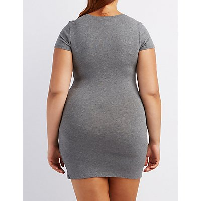 Plus Size Bodycon T-Shirt Dress