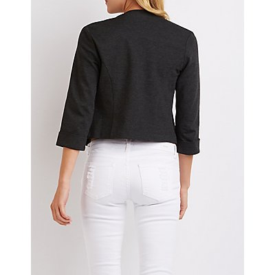 Collarless Cropped Blazer