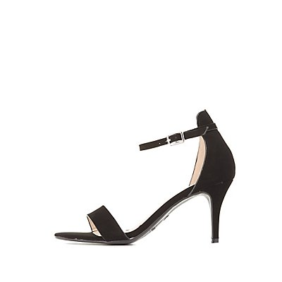 Bamboo Kitten Heel Two-Piece Dress Sandals