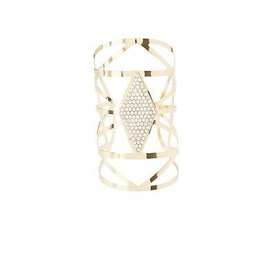 Caged & Embellished Cuff Bracelet