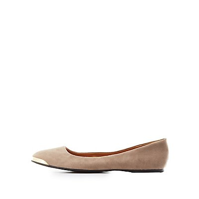 Qupid Almond Toe Flats