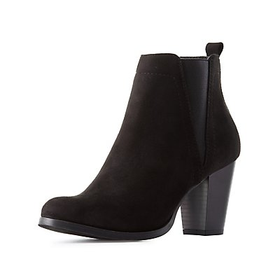Side Gore Chunky Heel Booties
