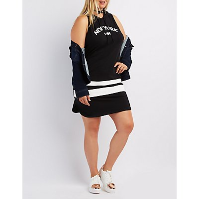 Plus Size Graphic Sweatshirt Dress