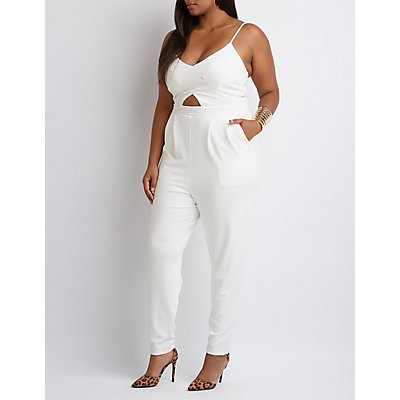 Plus Size Cut-Out Jumpsuit