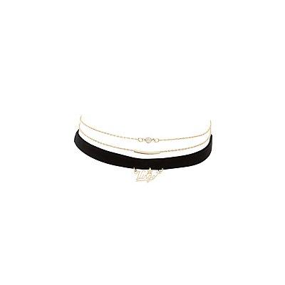 Virgo Zodiac Choker Necklaces -3 Pack
