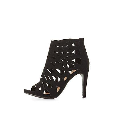 Laser Cut Dress Sandals