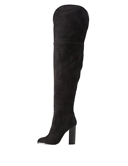 Chunky Heel Thigh-High Boots | Charlotte Russe